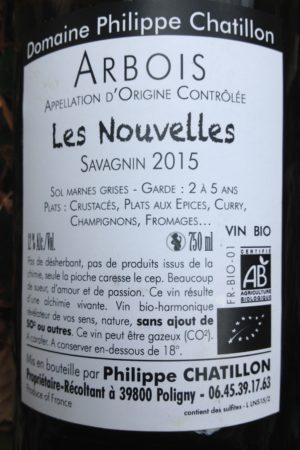 Savagnin Les Nouvelles 2015 Domaine Chatillon naturedevin.com