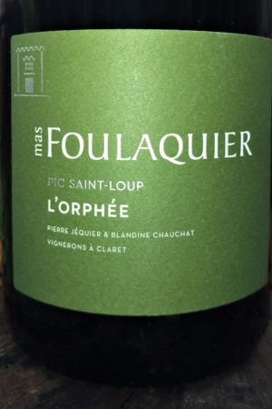 Orphée 2018, Domaine Foulaquier naturedevin.com