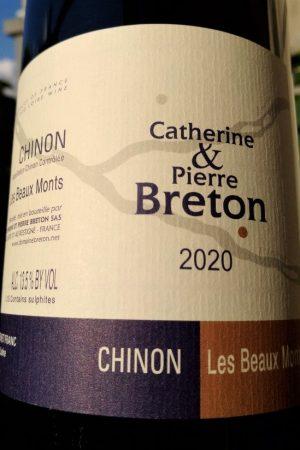 Chinon Les Beaux Monts 2020, Domaine Breton naturedevin.com