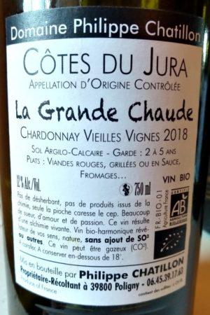 Chardonnay Vieilles Vignes 2018 La Grande Chaude, Domaine Chatillon naturedevin.com