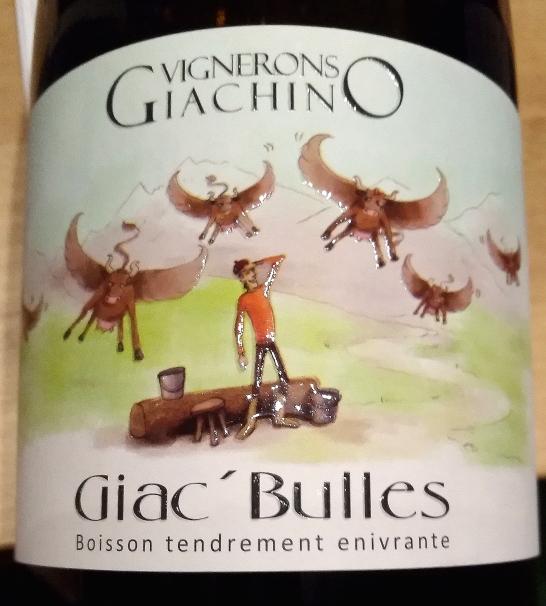 Giac' Bulles pétillant naturel, Domaine Giachino naturedevin.com