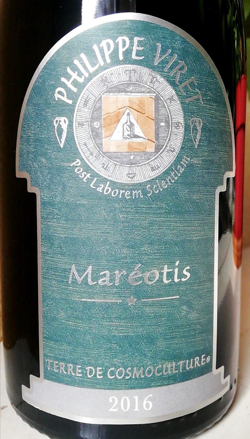 Maréotis 2016, Domaine Viret naturedevin.com