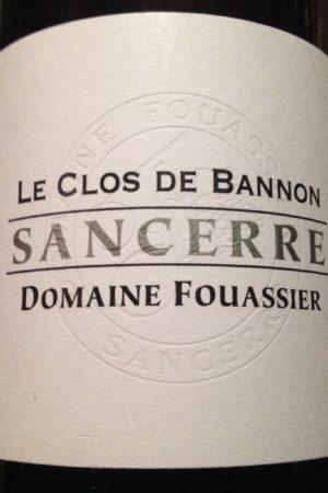 Sancerre Le Clos de Bannon 2016, Domaine Fouassier naturedevin.com