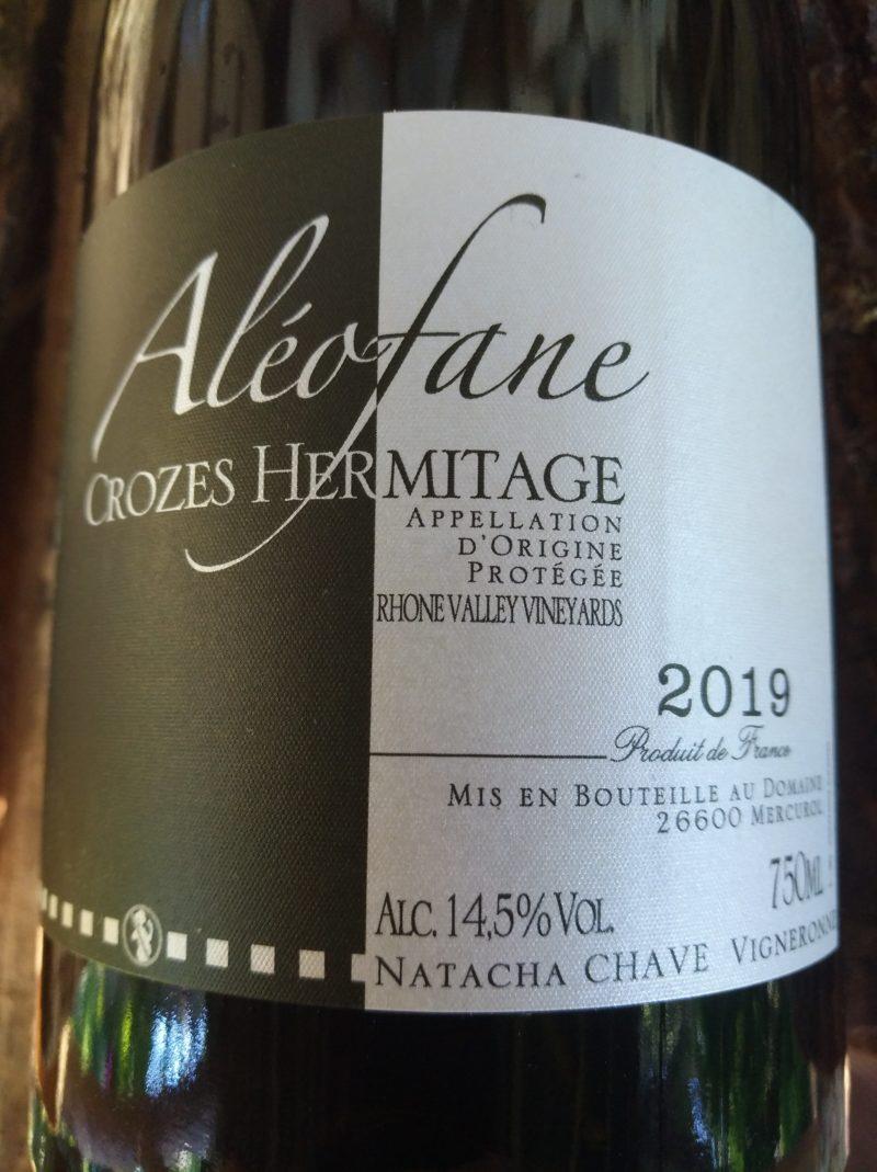 Crozes-Hermitage 2019, Domaine Aléofane naturedevin.com