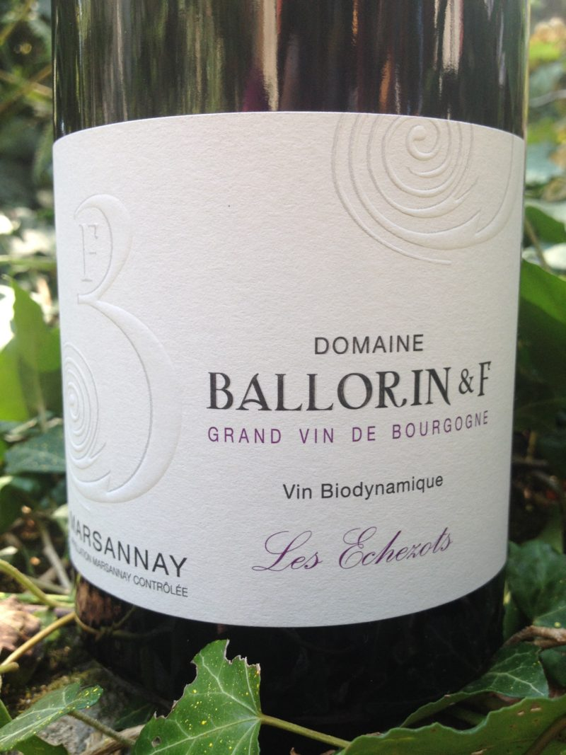 Marsannay Les Echezots 2019, Domaine Ballorin & F naturedevin.com