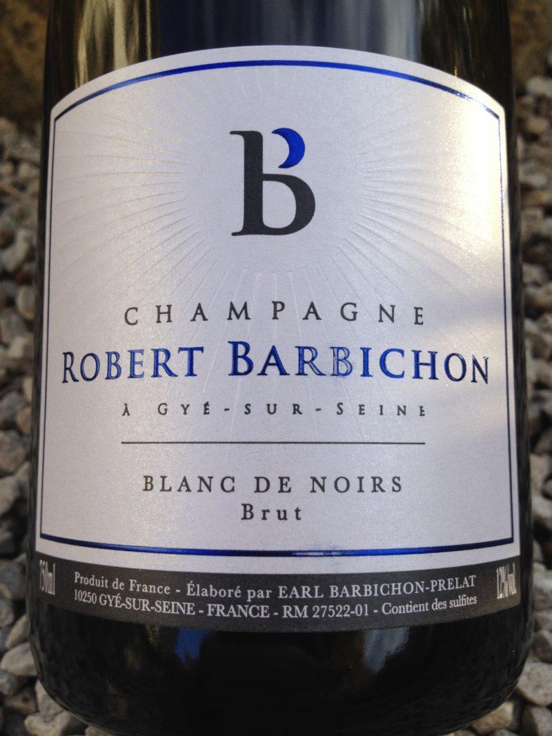 Champagne Barbichon, Blanc de Noirs Brut naturedevin.com
