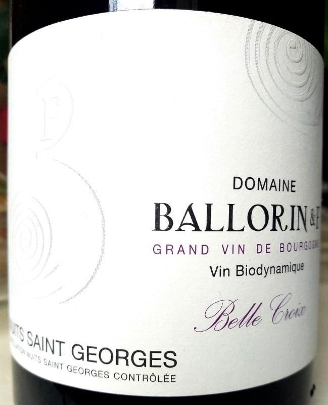 Nuits Saint Georges Belle Croix 2019, Ballorin et F naturedevin.com