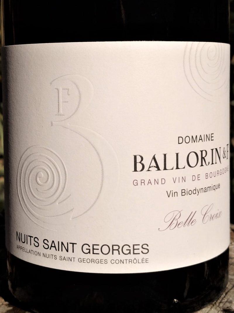 Nuits Saint Georges Belle Croix 2017, Ballorin et F naturedevin.com