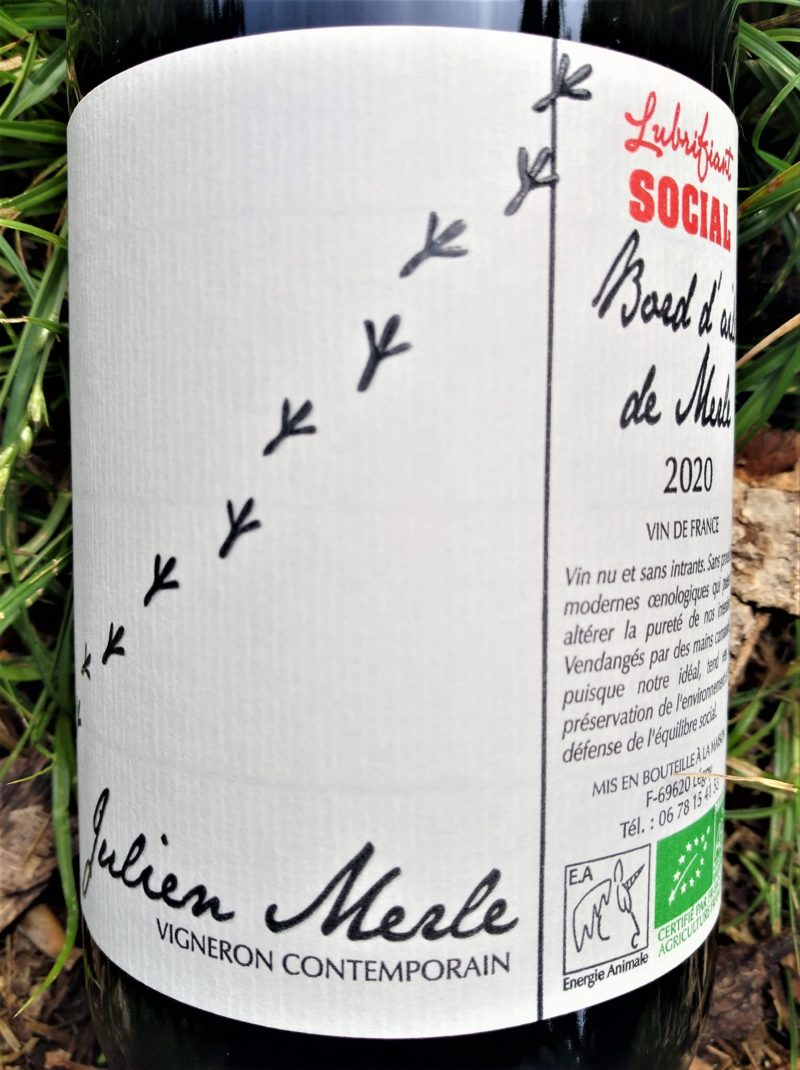 Bord d'aile de Merle 2020, Lubrifiant Social Domaine Julien Merle naturedevin.com