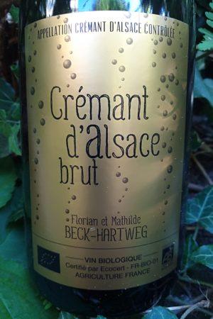 Crémant Brut d'Alsace, Domaine Beck-Hartweg naturedevin.com