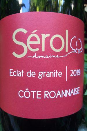 Éclat de Granit 2019, Domaine Sérol naturedevin.com