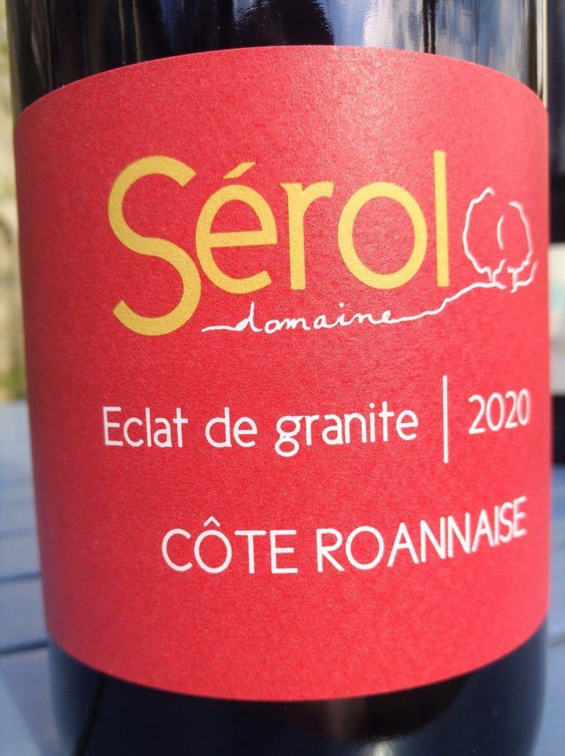 Éclat de Granite 2020, Domaine Sérol naturedevin.com
