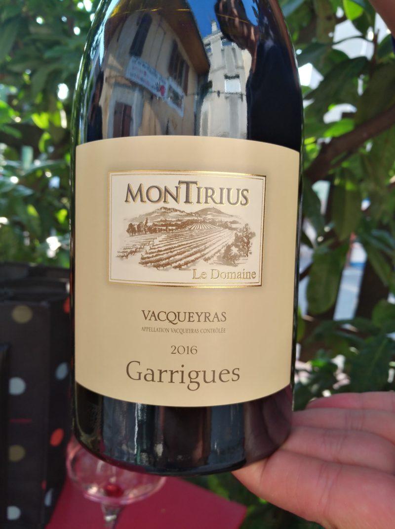Vacqueyras Garrigues 2016, Domaine Montirius naturedevin.com