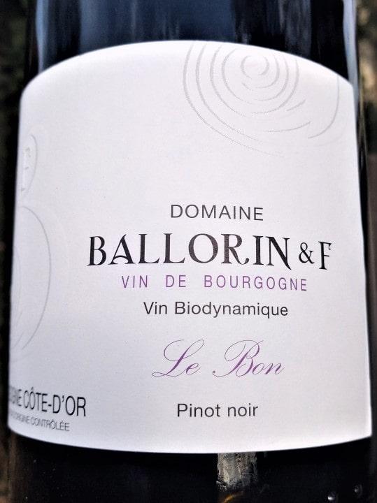 Pinot Noir Le Bon 2019, Domaine Ballorin naturedevin.com
