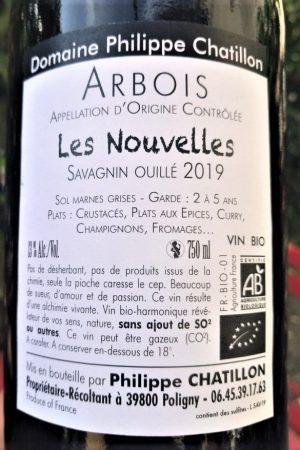 Savagnin ouillé Les Nouvelles 2019, Domaine Chatillon naturedevin.com