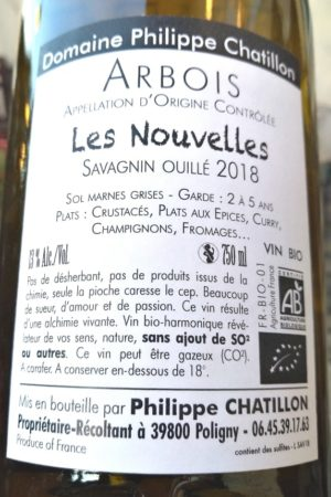 Savagnin ouillé Les Nouvelles 2018, Domaine Chatillon naturedevin.com