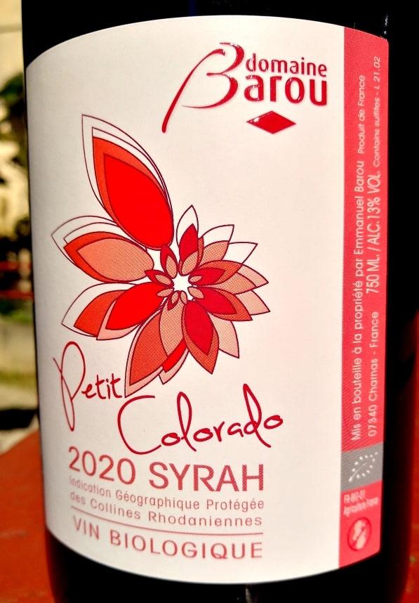 Petit Colorado 2020, Domaine Barou naturedevin.com